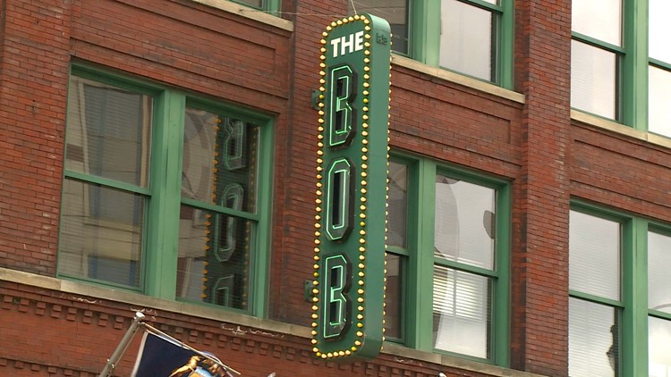 Over 50 ArtPrize displays housed in the B.O.B.