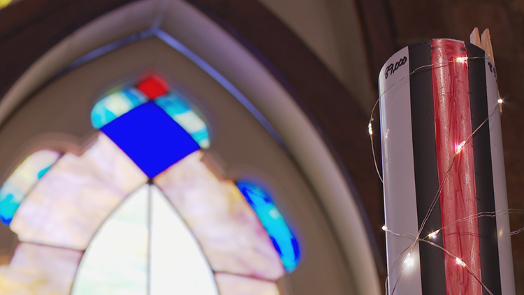 Anonymous $50,000 donation helps Fennville church fix crumbling stained-glass windows