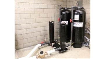 Robinson Elementary School's new water filtration system installed
