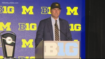 Harbaugh discusses football team at Big Ten Media Day