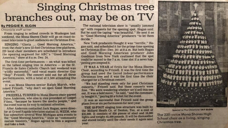 Newspaper article on the Tree from 1985.