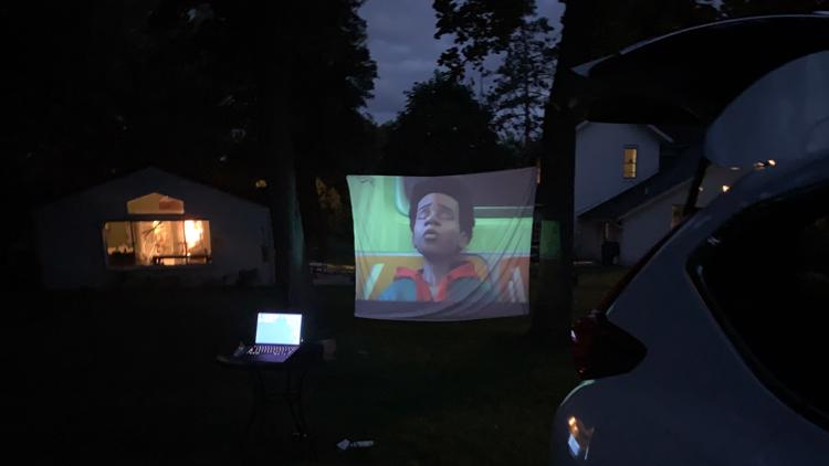 Watch a movie under the stars! DIY Backyard Drive-In