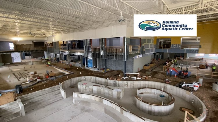 'Pool progress': Take a look inside construction of Holland's expanding aquatic center