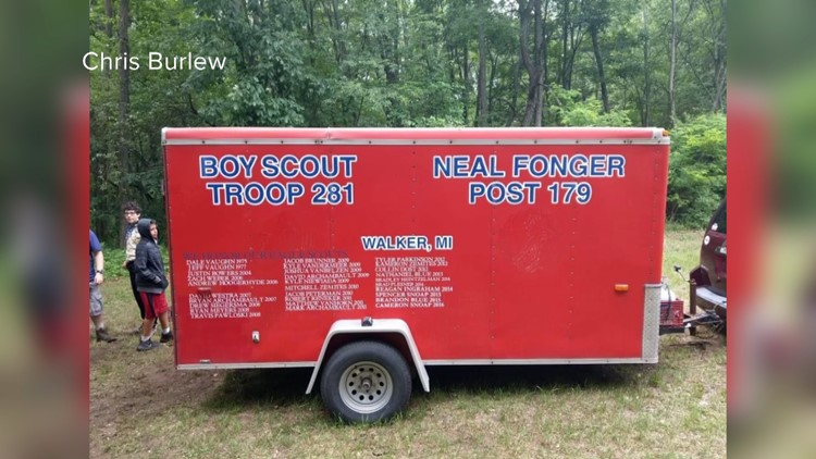 Trailers filled with camping gear stolen from local Boy Scout troop