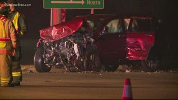 3 adults, 1 baby hurt in crash