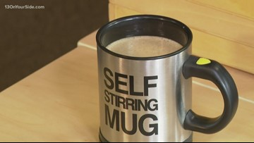Self-stirring mug takes the spoon out of the prep work