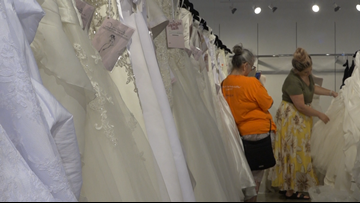 Lansing store gives free wedding dresses to military brides