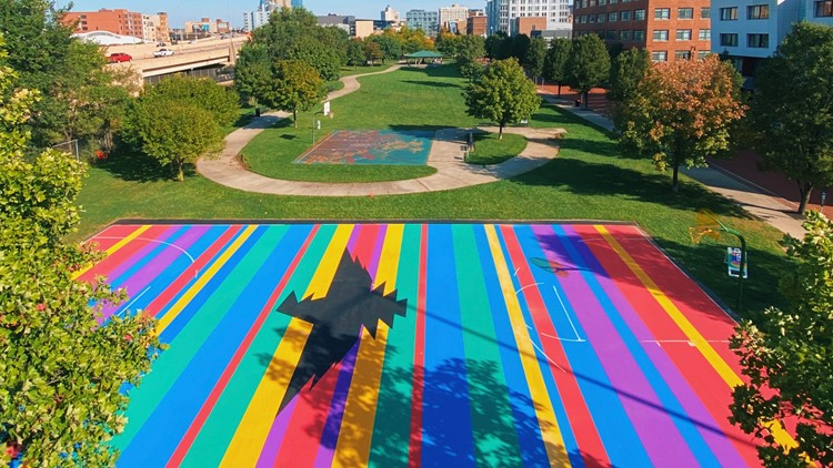 GR artist transforms Heartside basketball court for ArtPrize 2021 entry
