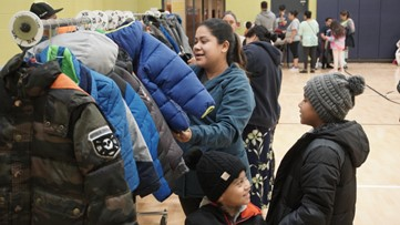 Grandville church puts on 'boutique' coat drive for Burton Elementary students