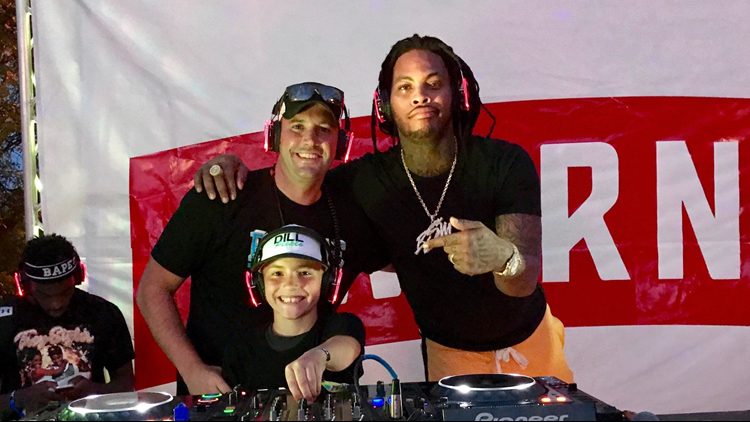 DJ Dill Pickle with rapper Waka Flocka Flame.