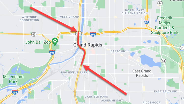 Roadwork on US-131 extended, lane closures to remain through the end of October