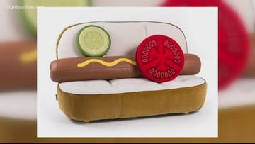The Chat: To be frank, not sure how we feel about this hot dog sofa
