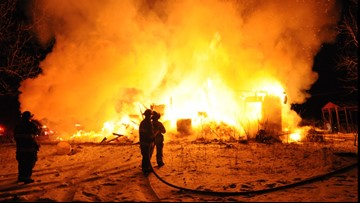Large fire destroys home in Grand Junction