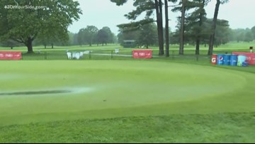 Meijer LPGA tee off delayed 7 hours after rain drenches course