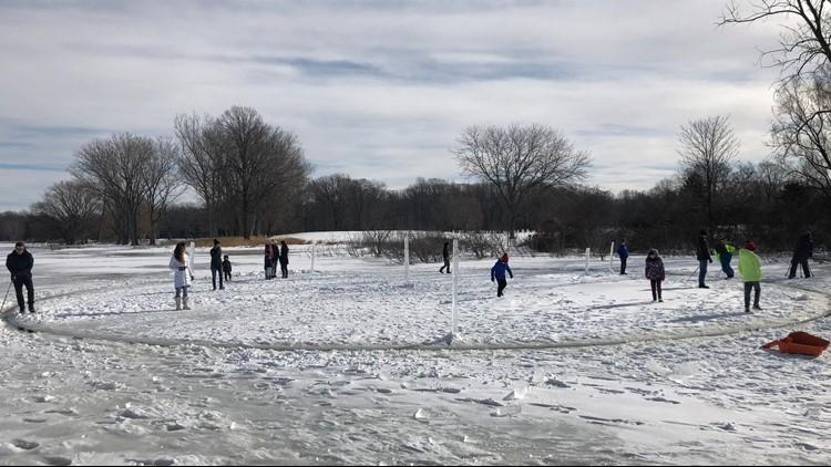 Spring Lake is 'spinning' thanks to man-made Ice Carousel