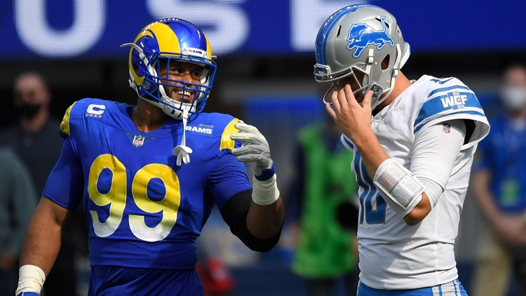 Former Detroit QB Stafford throws 3 TD passes, leads Rams to 28-19 win over Lions