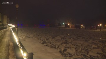 An ice jam leads to flooding in Portland area
