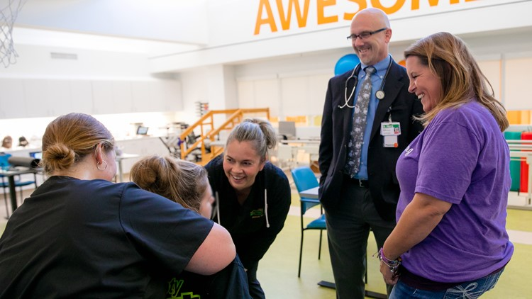 Savanah DeHart receiving care at Mary Free Bed Rehabilitation Hospital