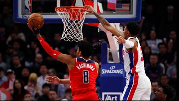 Wizards sharp early and late in 133-119 win over Pistons