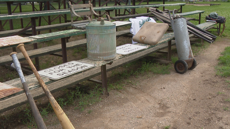 Decades-old baseball artifacts uncovered at legendary Michigan ballpark