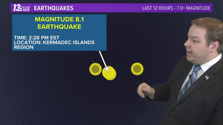 Tsunami watch canceled for Hawaii, Pacific earthquake poses no threat to islands