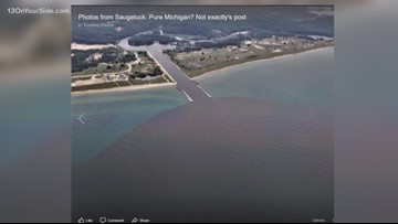 A Facebook page claims water pollution is flowing into Lake Michigan