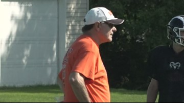 Rockford High School football coach returns to the sidelines after heart surgery