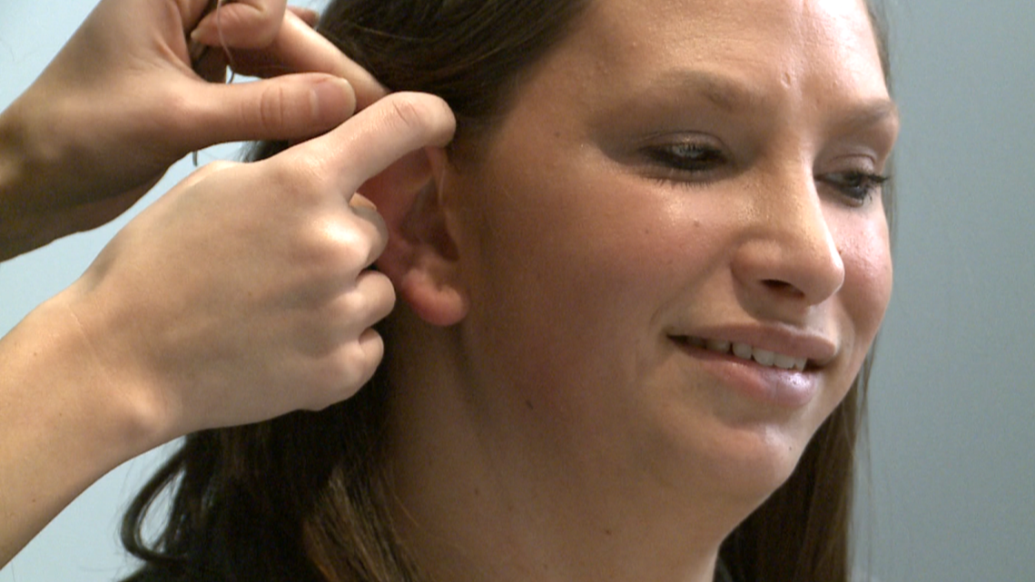 'It's emotional; it's exciting' West Michigan foster mom gets fitted for free hearing aids