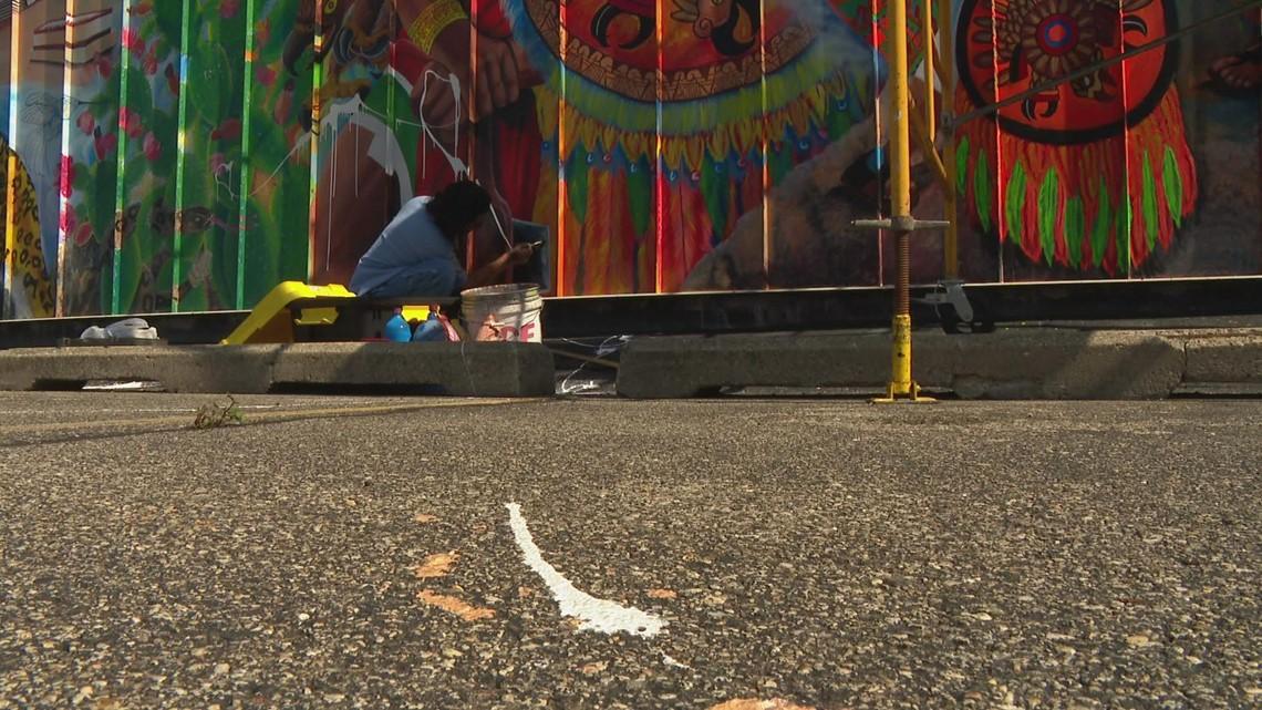 ArtPrize mural at MeXo venue defaced