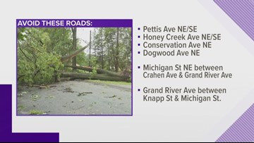 Kent County Sheriff's deputies ask drivers to avoid roads affected by storms