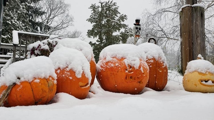 snow, muskegon county, pumpkins, weather, forecast