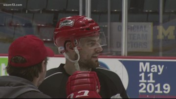 Longtime Griffins players get feedback from front office