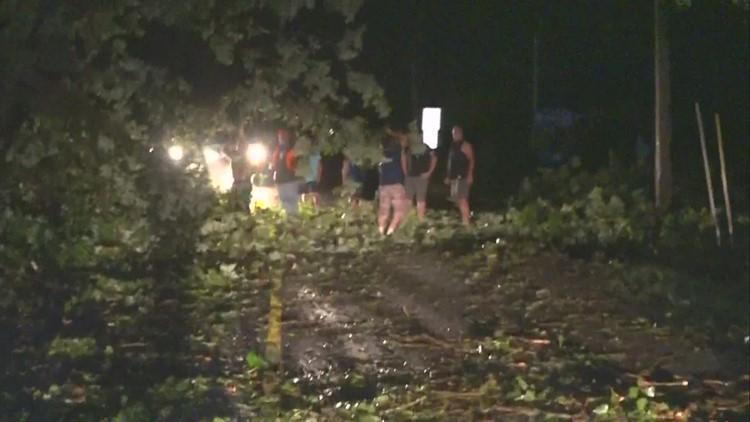 Severe storms hit Cedar Springs