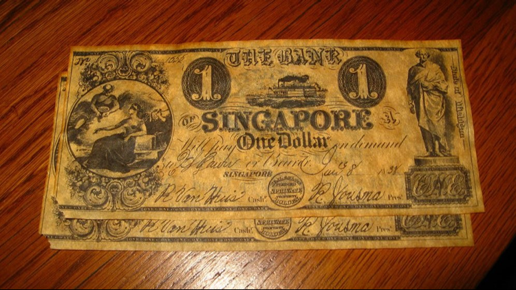 Singapore currency.