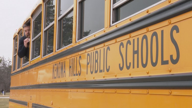 "Kenowa Hills Superintendent maintains ""Social Distancing."""