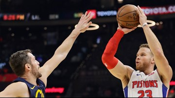 Griffin, Pistons pound Cavs 127-94 for 1st winning streak