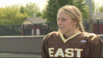 Zeeland East player makes school history as first female kicker