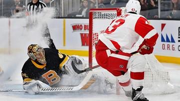 Pastrnak scores 42nd goal; Bruins roll past Detroit, 4-1
