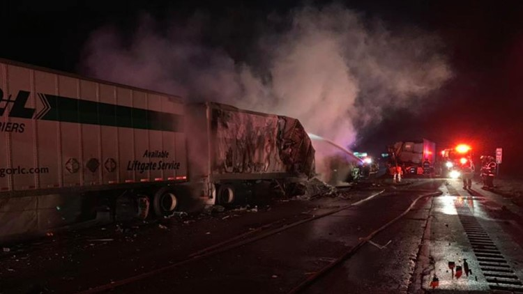 One person dead after fiery semi accident