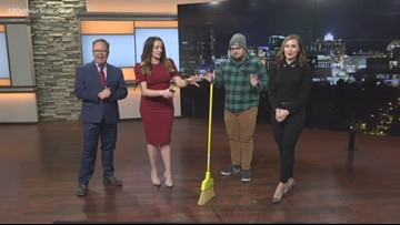 The #broomchallenge isn't real and your broom will stand on its own tomorrow, too