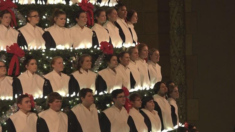 Singers in the 2019 Singing Christmas Tree.