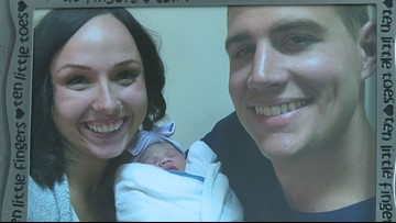 Open adoption: Baby's first Christmas celebrated with adoptive parents and biological mother
