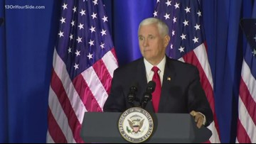 '3 years of actions, results': Vice President Mike Pence says to Michiganders at rally