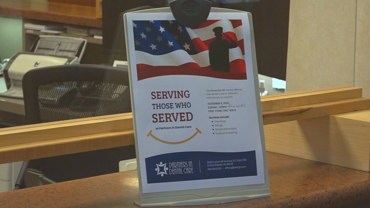 Kentwood dentist office to offer free dental services to veterans