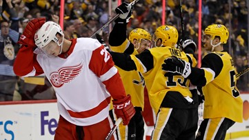 Pittsburgh Penguins beat the Red Wings 5-1