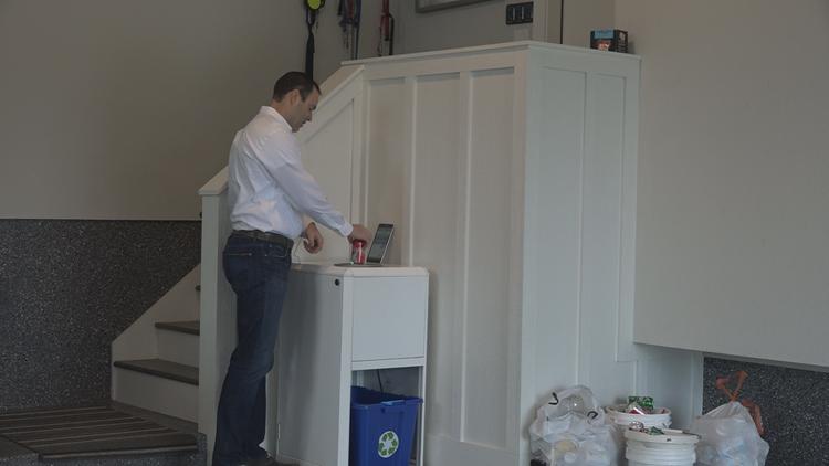 'It simplifies your life' | ER doctor invents in-home bottle deposit machine
