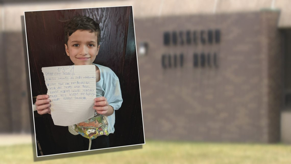 9-year-old Michigan boy takes on City Hall, wants favorite swing set back