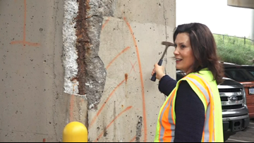 Whitmer visits US-131 underpass and pushes road and bridge funding