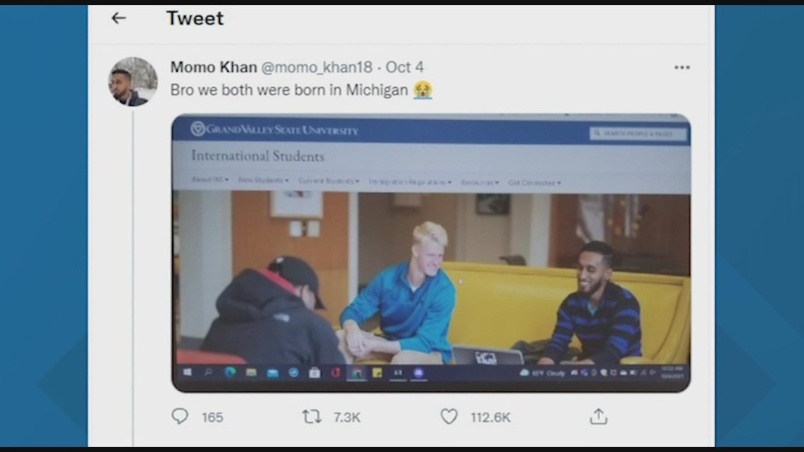 GVSU student calls out school for using his picture on the international page