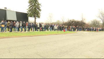 Crowds line up for first day of legal marijuana sales in Michigan